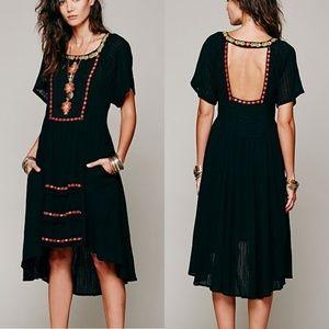 Free People Embroidered Folk Festival Boho Dress